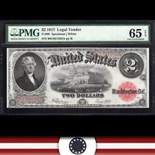 1917 $2 Legal Tender Note *BRACELET BACK* PMG 65 EPQ Fr 60  B61381282A