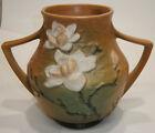 "vintage roseville Magnolia double handle vase 91-8"" art pottery NO DAMAGE"