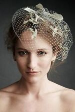Anthropologie BLHDN James Coviello Etoile Birdcage Veil-Mint Green-$130 MSRP