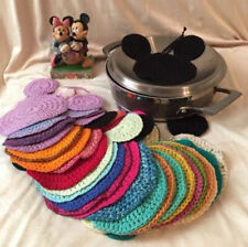 Disney Inspired Mickey Mouse Dish Cloth Wash Cloth Coaster Trivet Multiple Color