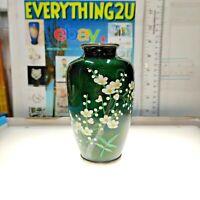 Vintage Modern Japanese Cloisonne Vase Floral Decoration