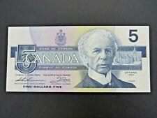 1986 $5 Bank of Canada Banknote Bill FOU2764093 Thiessen Crow AU-UNC Grade