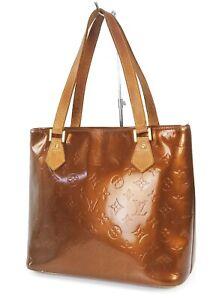 Authentic LOUIS VUITTON Houston Bronze Vernis Tote Bag Purse #38825