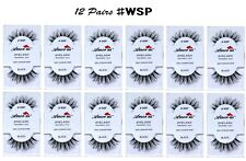 12 Pairs Amor Us 100% Human Hair False Eyelashes #WSP