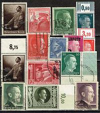 Germany WW2 Hitler's Birthday collection 1937-1945 CV $100