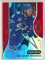 2019-20 Synergy Rookie Red 57 Guillaume Brisebois Vancouver Canucks BOUNTY