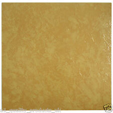 28 x Vinyl Floor Tiles - Self Adhesive - Bathroom Kitchen BN - Orange Marble 197
