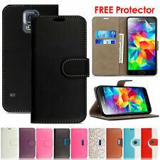 Luxury Magnetic Leather Wallet Flip Case Cover For Samsung Galaxy S4 S5 Neo