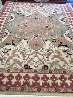 9' x 12' New Indian Oriental Rug - Hand Made - 100% Kork Wool - Unique