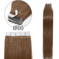 Tape In Real 100% Human Remy Hair Extensions Full Head Black Brown Blonde U23D