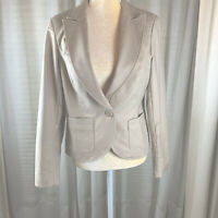 Cynthia Rowley Women's  Jacket, M,  beige,  97% cotton, 3% spandex, Slenderizing