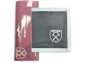 West Ham Wallet Canvas Black WHU Official Merchandise Money Wallet