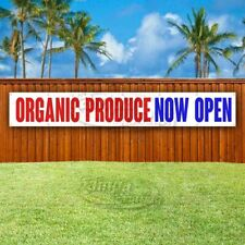 ORGANIC PRODUCE NOW OPEN Advertising Vinyl Banner Flag Sign LARGE HUGE XXL SIZE