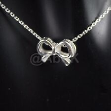 925 STERLING SILVER Bow Pendant with Chain Necklace 18 inches length BCN1