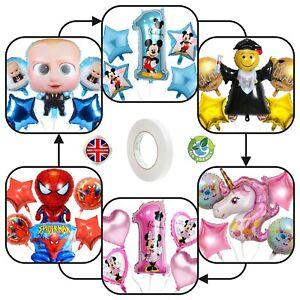 Foil Balloons Boss Baby Mickey Minnie Mouse Spiderman Unicorn children birthday