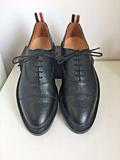 NEW💥THOM BROWNE💥Oxford US 11 UK 10💥Men shoes Black Pebble Grain leather
