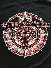 Queensryche T Shirt VIP Experience Survivor Black Cotton TEE shirt Size Large
