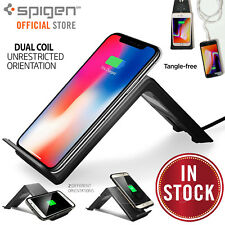 Qi Wireless Charger, Spigen Charging Stand Dock for iPhone X 8 Galaxy S8 S9 Plus