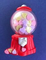 Hallmark PIN Valentines Vintage GUMBALL MACHINE Candy HEARTS Holiday Brooch MINT