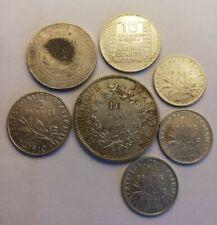 Lot De Monnaies Argent Françaises 100, 10, 2, 1 Francs