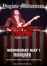 "YNGWIE MALMSTEEN ""UNITED STATES TOUR 2019"" PHOENIX CONCERT POSTER - Metal Music"
