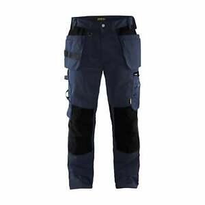 BLAKLADER Workwear | Craftsman Work Trousers | Dark Navy & Black