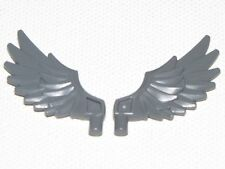 LEGO LOT OF 2 NEW DARK BLUISH GREY FEATHERED WINGS PIECES