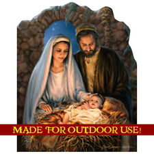 CHRISTMAS NATIVITY Plastic Outdoor YARD SIGN Weather Resistant FREE SHIPPING