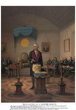 George Washington as a Freemason Master Mason Masonic Art Print ring Poster