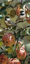 Carl Brenders CHICKADEES & APPLE TREE, giclee canvas ARTIST PROOF A/P#2/40