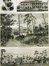 Mitchell JACKSONVILLE SAND HILLS ST. LUKES 1888 Antique Art Print Matted