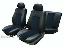 6PCS UNIVERSAL BLACK FULL CAR SEAT COVERS SET & HEADREST PROTECTORS