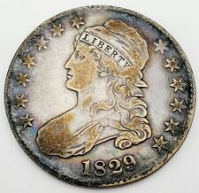 "1829 ""Capped Bust"" Half Dollar 50C, 9/7, Very Fine+"