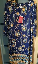 MONSOON Ladies Navy Floral Stretchy Dress Size 12 NEW WITH TAGS!