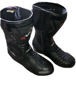 EVIRON MOTORCYCLE BOOTS SIZE UK 9 EU 43 US 10. Black. Only Worn A Few Times VGC