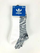 adidas Men's Originals No Show Socks, 3 Pairs Gray White