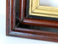 ANTIQUE  WALNUT GILDED  GREAT QUALITY  FRAME FOR PAINTING  16 X 12 INCH (d-7)