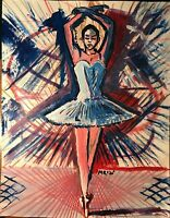 Acrylic painting of ballerina by artist Mark Robinson original