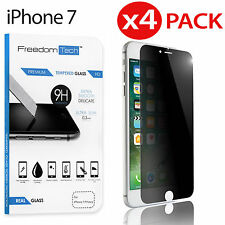 """4x Privacy Anti-Spy REAL Tempered Glass Screen Protector for Apple 4.7"""" iPhone 7"""