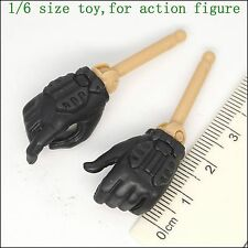 L55-03 1/6 scale action figure Zcwo black gloves hands
