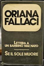 Oriana Fallaci, LETTERA AD UN BAMBINO MAI NATO, SE IL SOLE MUORE, 1977.