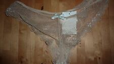 Elle Macpherson CORANTO Nude Beige UK 14 LARGE L Lace Thong Brief BNWT FAB RARE!