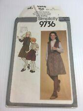 Simplicity 9736 Girls 7 & 8 Vintage Sewing Pattern Skirt Bolero Vest Blouse