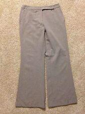 Women's New York & Company Size 8 Light Brown Dress Pants Cuffed Leg, Flat Front