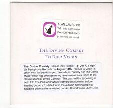 (EZ585) The Divine Comedy, To Die A Virgin - 2006 DJ CD