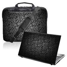 "TaylorHe 15.6"" Laptop Shoulder Bag Handles Strap & Skin Bundle Paisley"
