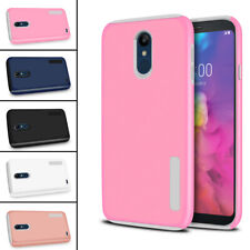 For LG Q7 2018 / Q7a Hybrid Dual Layer Shockproof Hardsoft Protective Case Cover