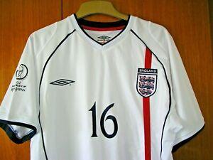 England Football Shirt Umbro 2002 World Cup Japan size XXL 46/48 SOUTHGATE 16