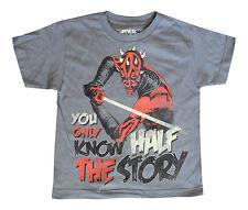 Star Wars Clone Wars Darth Maul Light Saber Gray Kids Youth Extra Small T Shirt