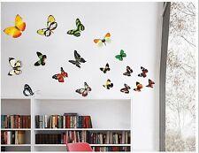 Papillon Autocollant Mural Enfants Chambres Conservatoire Décor Grand 20 Coloré